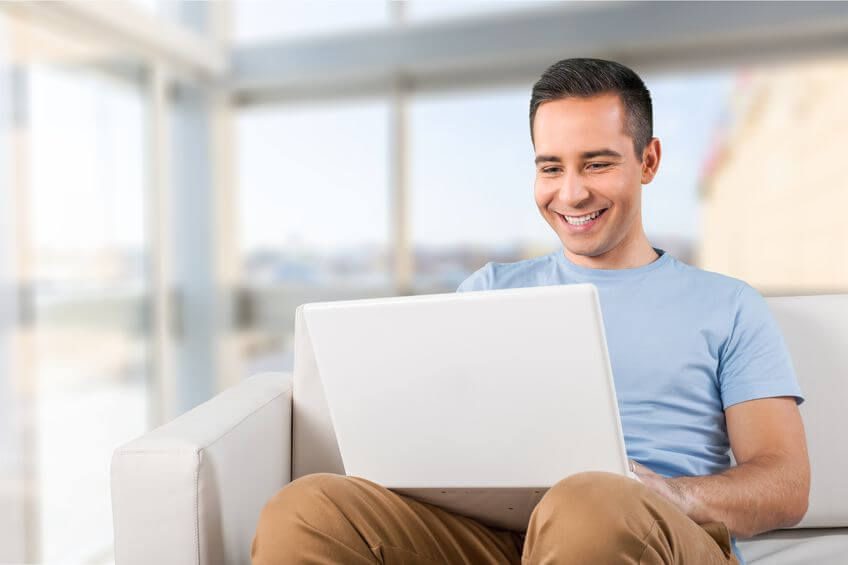 Surfing the internet at home in St. Catharines