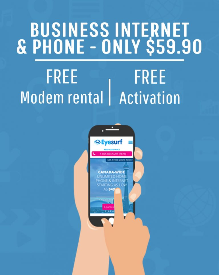 Get set up for business with Eyesurf - package your internet and phone, all for $59.99!